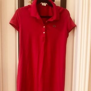 LACOSTE HOT PINK POLO DRESS SIZE 42